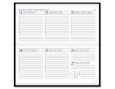 Diary Select Zakagenda 2021 Pointer met Leder Rundbox omslag en wit papier